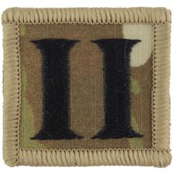 Royal Gurkha Rifles - 2nd Battalion Jungle Hat Badge Black 'II' On MTP  Embroidered Other Ranks' cap badge