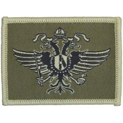 1st The Queen's Dragoon Guards Helmet Badge  Woven Other Ranks' cap badge