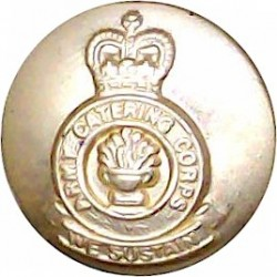 Queen Alexandra's Royal Army Nursing Corps 14.5mm - Gold Colour with Queen Elizabeth's Crown. Anodised Staybrite military unifor