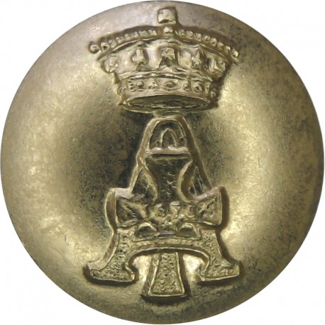 Army Catering Corps - No Scroll - 1953-1973 14.5mm - Gold Colour with Queen Elizabeth's Crown. Anodised Staybrite military unifo