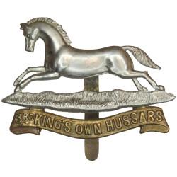 3rd King's Own Hussars 1898-1920  Bi-metallic Other Ranks' metal cap badge