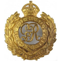 Royal Engineers GvR - 1910-1936 with King's Crown. Brass Other Ranks' metal cap badge
