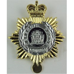 Jamaica Defence Force - With Slider For Cap Improved Metal Issue with Queen Elizabeth's Crown. Silver-plated, gilt and enamel Ot