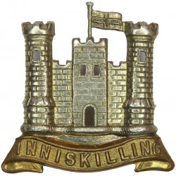 Inniskillings (6th Dragoons) Pre-1922  Bi-metallic Other Ranks' metal cap badge