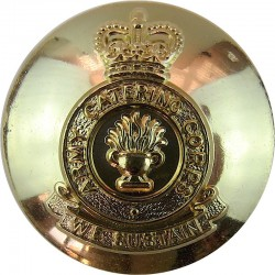 Army Catering Corps - 'We Sustain' Scroll 1973-1993 26mm - Gold Colour with Queen Elizabeth's Crown. Anodised Staybrite military