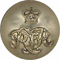 Irish Guards 14.5mm - Gold Colour with Queen Elizabeth's Crown. Anodised Staybrite military uniform button