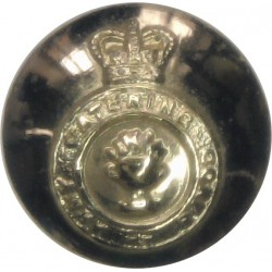 Queen's Lancashire Regiment 14mm - Gold Colour  Anodised Staybrite military uniform button
