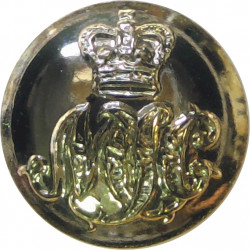 47 (Middlesex Yeomanry) Signal Squadron (V) 14mm - Gold Colour with Queen Elizabeth's Crown. Anodised Staybrite military uniform