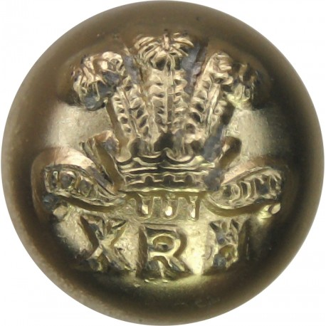 10th Royal Hussars (Prince Of Wales's Own) 15mm Ball Button  Anodised Staybrite military uniform button