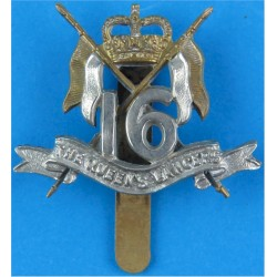 16th/5th The Queen's Royal Lancers: Warrant Officers Small - 31.5mm High with Queen Elizabeth's Crown. Bi-metallic Other Ranks'