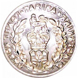 Loyal Regiment (North Lancashire) 19mm - Gold Colour with Queen Elizabeth's Crown. Anodised Staybrite military uniform button