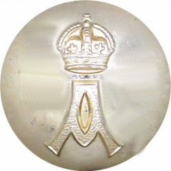 Queen Alexandra's Royal Army Nursing Corps 26mm - Gold Colour with King's Crown. Anodised Staybrite military uniform button