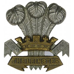 Prince Of Wales's Leinster Regiment (Royal Canadians Pre-1922 Irish  Bi-metallic Other Ranks' metal cap badge