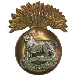 Royal Munster Fusiliers Pre-1922 Irish  Bi-metallic Other Ranks' metal cap badge