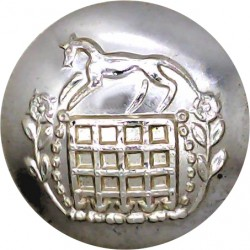Berkshire & Westminster Dragoons - 1961-1967 25.5mm - Gold Colour  Anodised Staybrite military uniform button