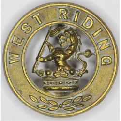 Duke Of Wellington's (West Riding Regiment) Helmet Plate Centre  Brass Other Ranks' metal cap badge
