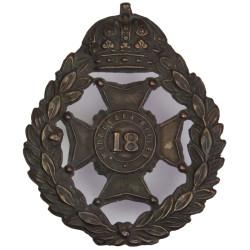 18th Middlesex Rifle Volunteer Corps (Paddington Rifles) 1880-1908  Blackened Other Ranks' metal cap badge