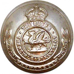 Buffs (Royal East Kent Regiment) 25.5mm - Gold Colour with King's Crown. Anodised Staybrite military uniform button