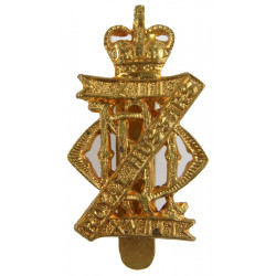 13th/18th Royal Hussars (Queen Mary's Own) 1952-1993 with Queen Elizabeth's Crown. Brass Other Ranks' metal cap badge