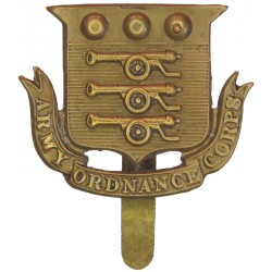 Army Ordnance Corps (1896-1919)   Brass Other Ranks' metal cap badge