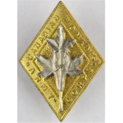Canadian Women's Army Corps 1941-1964  Bi-metallic Other Ranks' metal cap badge