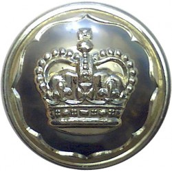 Ayrshire (Earl of Carrick's Own) Yeomanry 26mm - Gold Colour with Queen Elizabeth's Crown. Anodised Staybrite military uniform b