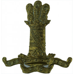 11th Hussars (Prince Albert's Own) Thin Tower  Brass Other Ranks' metal cap badge
