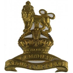 Canadian Provost Corps 1939-1952 with King's Crown. Brass Other Ranks' metal cap badge
