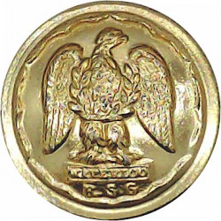 Royal Scots Greys (2nd Dragoons) 19mm - Gold Colour  Anodised Staybrite military uniform button