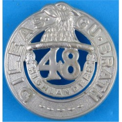 48th Highlanders - Post-1936 Canadian Army  White Metal Other Ranks' metal cap badge