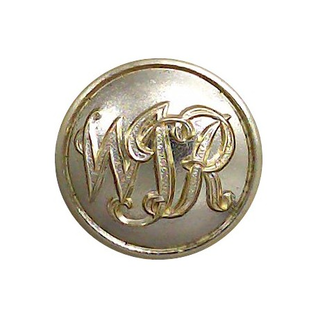 Royal Warwickshire Regiment 18.5mm - Gold Colour with King's Crown. Anodised Staybrite military uniform button