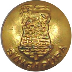 Intelligence Corps 26mm - Gold Colour King's Crown. Anodised Staybrite military uniform button