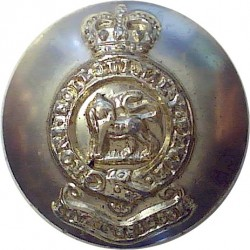 Scots Guards 17.5mm - Gold Colour with Queen Elizabeth's Crown. Anodised Staybrite military uniform button