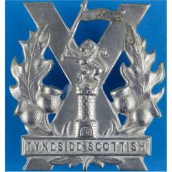 Tyneside Scottish Two Paws On Tower  White Metal Other Ranks' metal cap badge