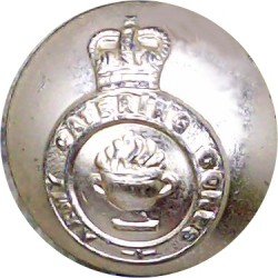 200 (Sussex Yeomanry) Medium Battery RA (V) 23.5mm - Gold Colour with King's Crown. Anodised Staybrite military uniform button