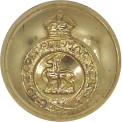 Royal Australian Infantry Corps 19mm - Gold Colour with Queen Elizabeth's Crown. Anodised Staybrite military uniform button