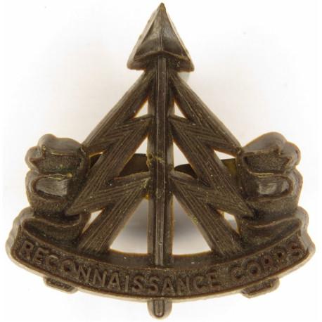 Reconnaissance Corps Brown  Plastic Bakelite plastic cap badge