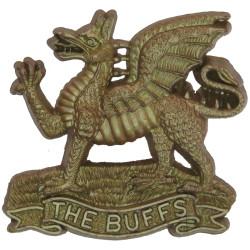 Buffs (Royal East Kent Regiment) Light Bronze Colour  Plastic Bakelite plastic cap badge