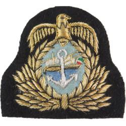 Kuwaiti Navy Officer's Cap Badge   Mylar Naval cap badge or cap tally