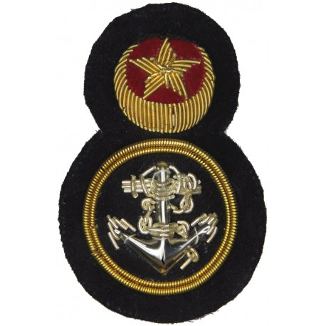 Pakistan Navy - Petty Officers   Bullion wire-embroidered Naval cap badge or cap tally
