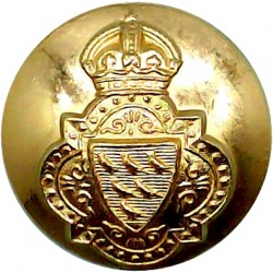 Loyal Regiment (North Lancashire) 19mm - Screw-Fit with Queen Elizabeth's Crown. Anodised Staybrite military uniform button