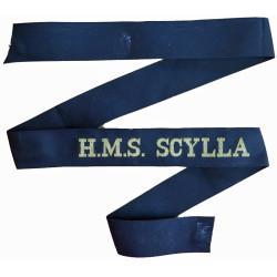HMS Scylla (Leander-Class Frigate) Cap-Tally 1970-1993  Woven Naval cap badge or cap tally