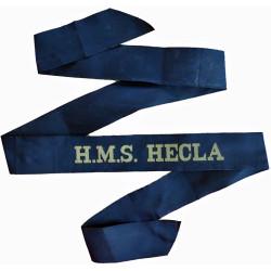 HMS Hecla (Survey Vessel & Falklands War Ambulance) Cap-Tally 1964-1997  Woven Naval cap badge or cap tally