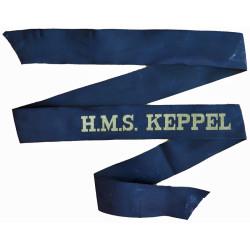 HMS Keppel (Blackwood Class Frigate) Cap-Tally 1956-1979  Woven Naval cap badge or cap tally