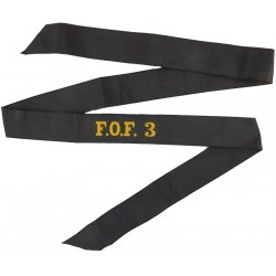 F.O.F. 3 (Flag Officer Third Flotilla) Cap-Tally  Woven Naval cap badge or cap tally