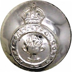 Army Catering Corps 19mm - Gold Colour with King's Crown. Anodised Staybrite military uniform button
