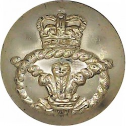 Staffordshire Regiment (The Prince Of Wales's) 19mm - Screw-Fit with Queen Elizabeth's Crown. Anodised Staybrite military unifor