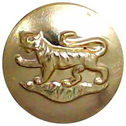 West Yorkshire Regiment (The Prince Of Wales's Own) 14.5mm - Gold Colour  Anodised Staybrite military uniform button
