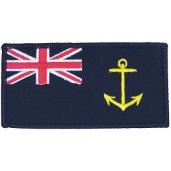Royal Fleet Auxiliary Tactical Recognition Flash Blue Ensign + Anchor  Embroidered Naval Branch, rank or miscellaneous insignia