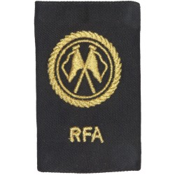 RFA (Royal Fleet Auxiliary) Communications Rating Gold On Black  Lurex Naval Branch, rank or miscellaneous insignia